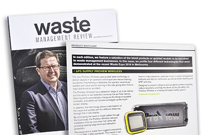 PreView Wireless WorkSight in the latest Waste Management Review magazine