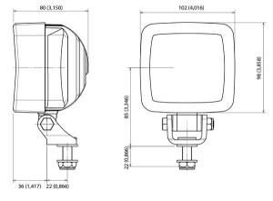 ABL 500 LED850 Gen2 Series 18W Work Lamp