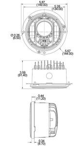 Speaker 6130 LED line drawing