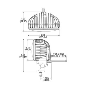 Speaker A735 XL Series LED Scene Light Dimensions
