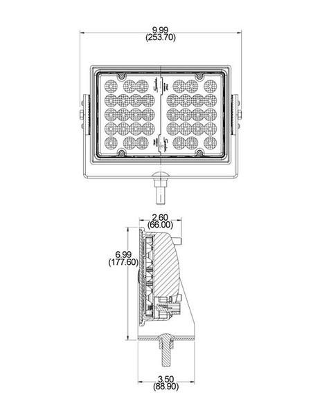 j w  speaker a523 series 8 u0026quot  x 9 u0026quot  rectangular led side mount scene light