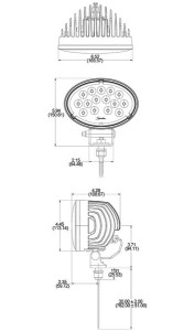 "Speaker A7150 Series 5"" x 7"" Oval LED Worklight"