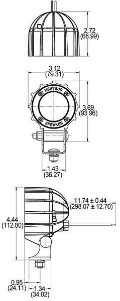 j w  speaker a4410 xl series 3 u0026quot  round led work light