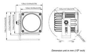 ABL MY LED2700 Dimensions