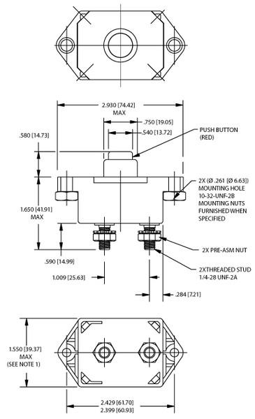 klixon sdlm 35 to 150 amp commercial thermal circuit