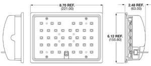 Speaker A524 Series Panel Mounted LED Scene Light - Marine