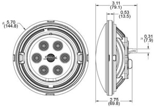 Speaker A6046/A6047 Series Par 46 LED Sealed Beam