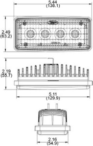 Speaker A6048 Series LED Sealed Beam Oem Retrofit