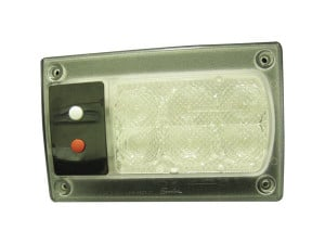"Speaker A417 Series 5"" x 8"" Rectangular LED Dome Light"