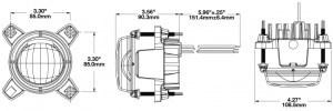 JW Speaker A90 Headlight - line drawing