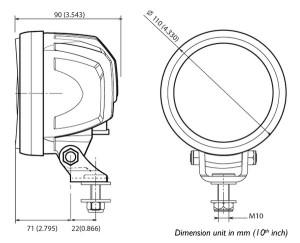ABL 700 LED3000 dimensions