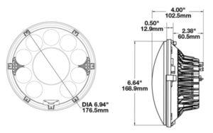 LED Headlight Model 8770 Locomotive line drawing
