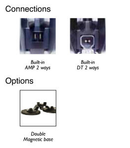 ABL 500 LED Blue - connections-options