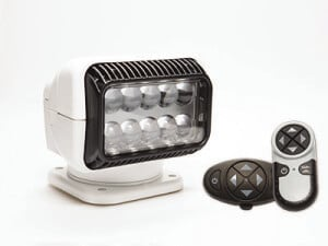 White Golight RadioRay with wireless handheld and dash mount remote control