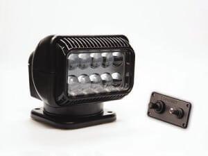 Black Golight RadioRay with wireless hard-wired dash mount remote control