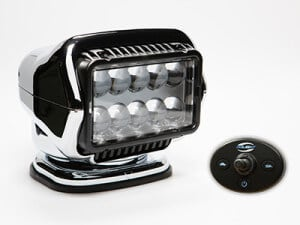 Chrome Golight Stryker with hard-wired dash mount remote control