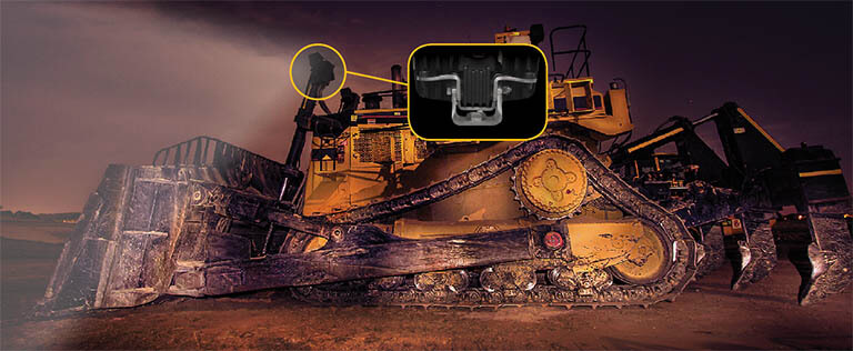 bulldozer with ABL AVB bracket