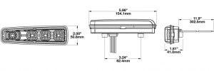 JW Speaker Model 516 LED Headlight line drawing