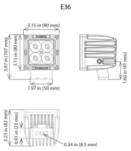 Phoenix Sturdilite E36 line drawing