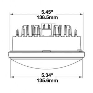 JW Speaker 8631 LED Headlight line drawing