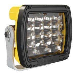 J.W. Speaker Model 526 Dual White Anti-Glare LED Work Light - Yellow Housing