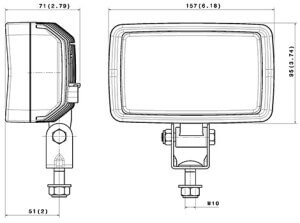 ABL 1100 LED2000 Compact line drawing