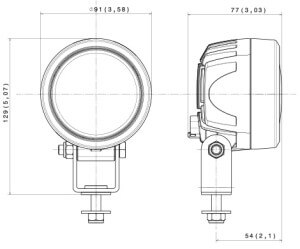 ABL 700 LED850 Compact line drawing
