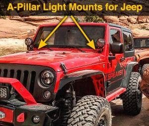 Speaker A-Pillar Light Mount Kits for Jeep Wrangler JK (2007 - current year)