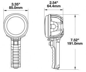 Speaker 4416 Handheld LED Work Light line drawing