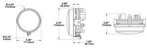 Speaker 8415 Evolution 4.5 Round LED Headlights line drawing