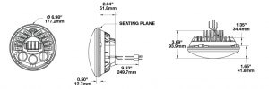 Speaker 8790 A Series - Adaptive LED Motorcycle Headlight line drawing