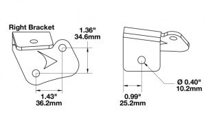 Speaker A-Pillar Light Mount Kits for Jeep Wrangler JK (2007 - current year) line drawing