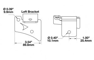 Speaker A-Pillar Light Mount Kits for Jeep Wrangler TJ (1997 - 2006) line drawing