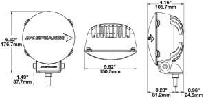 JW Speaker TS3001R line drawing