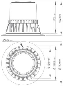 BFR1000 25 Watt Rotating LED Beacon