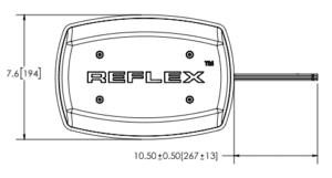 ECCO 5550 Series Reflex LED Microbar line drawing