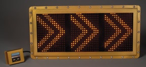 APS Programmable VID Message Board - animated arrows