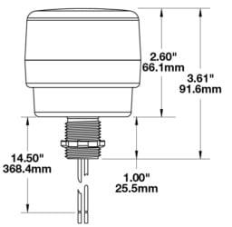 JWS 538 Strobe Light line drawing