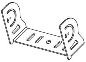 Vision X 140W Shovel/Dragline HD bracket line drawing