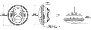J.W. Speaker Model 8700 Evo 2 Dual Burn LED Headlights