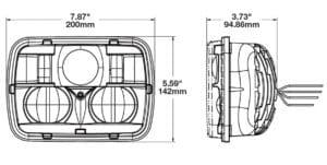 J.W. Speaker 8900 Evolution Series 2 line drawing