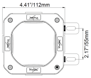 Vision X 10W Junction Box Light line drawing