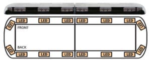ECCO 12+ Series Vantage LED Lightbar - Model 12-20001-E