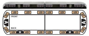 ECCO 12+ Series Vantage LED Lightbar - Model 12-20004-E