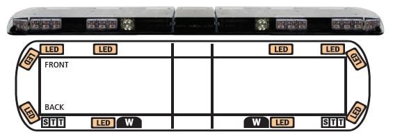 ECCO 12+ Series Vantage SAE Cl I LED Lightbar - APS Vantage Lighting Low Voltage Wiring Diagram on