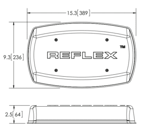 ECCO 5587 Series Reflex LED Minibar line drawing