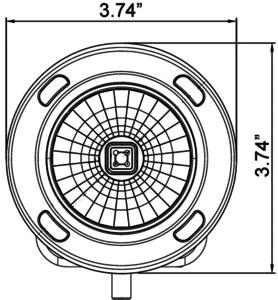 3.7″ CG2 Multi-LED Light Cannon