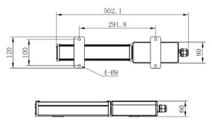APS LY400 bulkhead mount line drawing