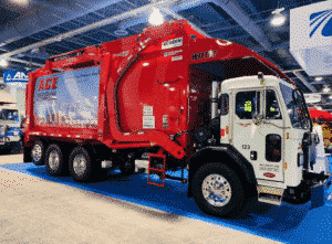 PreView Sentry and Side Defender II on a front-loader refuse truck