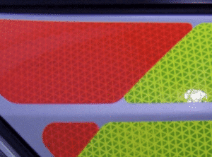 Oralite V98 Conformable Graphic Sheeting application